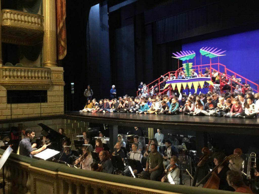 Répétition avec l'orchestre