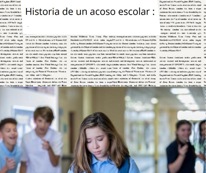 Artículo sobre el acoso escolar