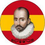 Montesquieu au centre d'un drapeau espagnol